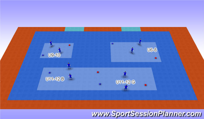 Futsal Session Plan Drill (Colour): Color Cones