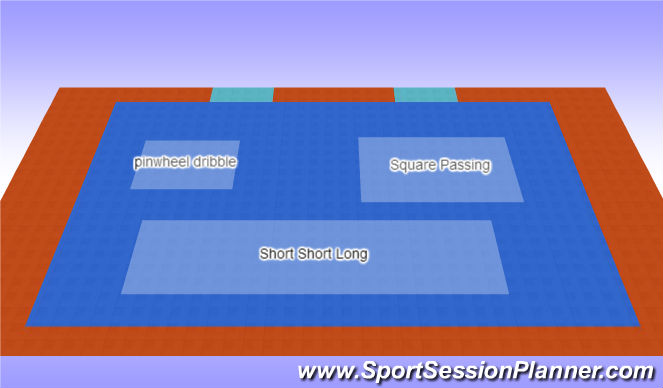 Futsal Session Plan Drill (Colour): Technical