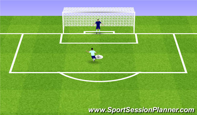 Football/Soccer Session Plan Drill (Colour): Penalties
