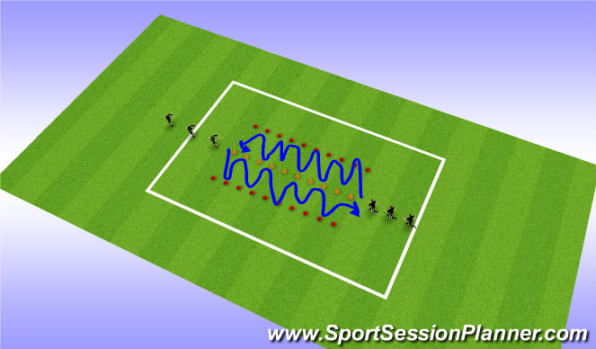 Football/Soccer Session Plan Drill (Colour): fwd technical