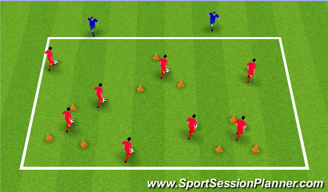 Football/Soccer Session Plan Drill (Colour): Get out of here