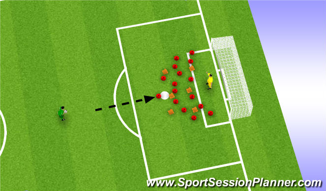Football/Soccer Session Plan Drill (Colour): Imperfect World