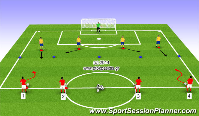 Football/Soccer Session Plan Drill (Colour): Άμυνα ζώνης 2