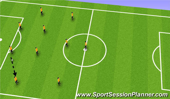 Football/Soccer Session Plan Drill (Colour): 4-2-3-1 Shadow Play