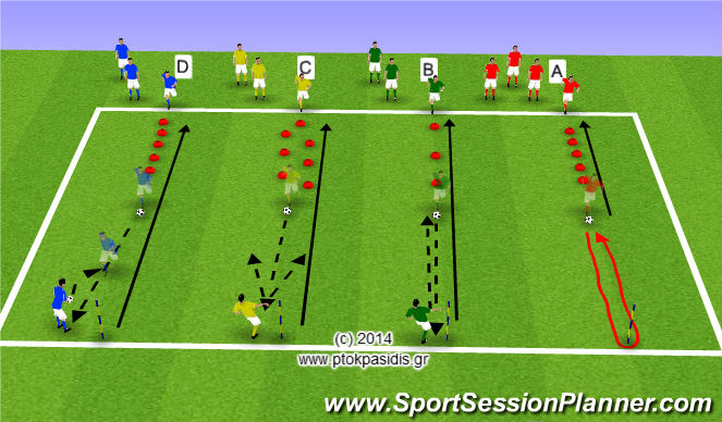 Football/Soccer Session Plan Drill (Colour): 4 Ασκήσεις