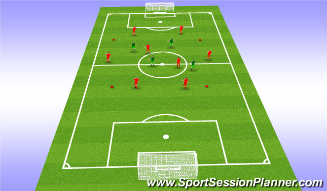 Football/Soccer Session Plan Drill (Colour): Rondo 4v2+6)