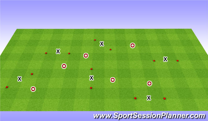 Football/Soccer Session Plan Drill (Colour): Technical Practce