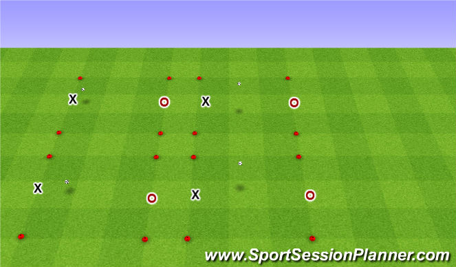 Football/Soccer Session Plan Drill (Colour): Technical Practice: Competition
