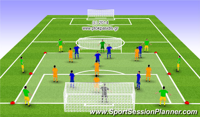 Football/Soccer Session Plan Drill (Colour): ΤΑΚΤΙΚΗ ΣΥΝΕΡΓΑΣΙΑΣ και ΣΚΟΡΑΡΙΣΜΑΤΟΣ
