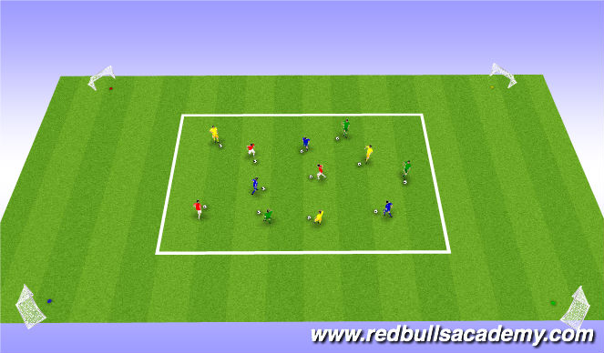 Football/Soccer Session Plan Drill (Colour): Warm Up/Activator