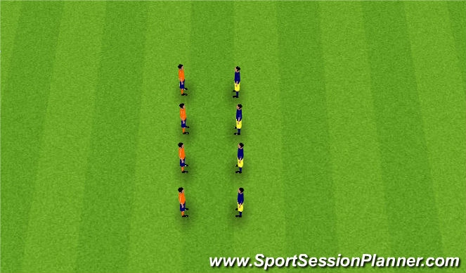 Football/Soccer Session Plan Drill (Colour): Fundamental Warm-up