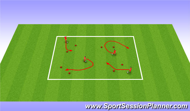 Football/Soccer Session Plan Drill (Colour): NASCAR