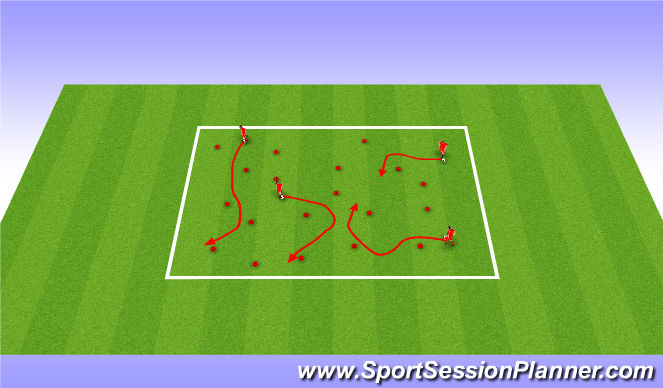 Football/Soccer Session Plan Drill (Colour): Dishes and Domes