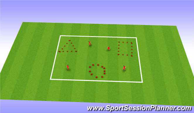 Football/Soccer Session Plan Drill (Colour): Shapes