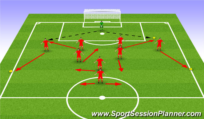 Football/Soccer Session Plan Drill (Colour): Pattern - Scenario 1 (play to CB's)