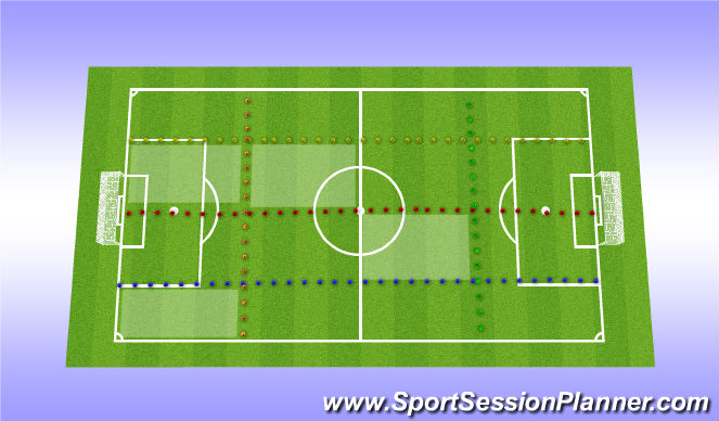 Football/Soccer Session Plan Drill (Colour): The Real Test