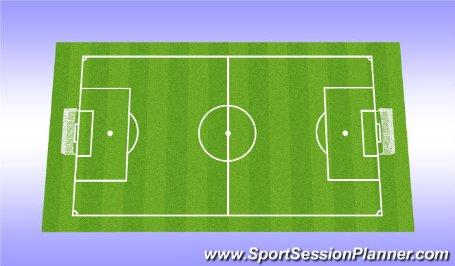 Football/Soccer Session Plan Drill (Colour): Full Game
