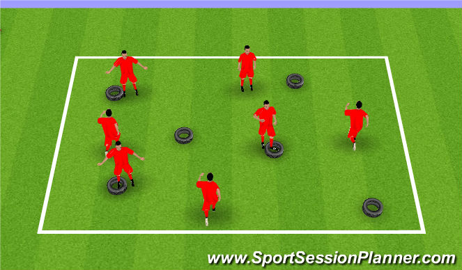 Football/Soccer Session Plan Drill (Colour): Hoops warm up