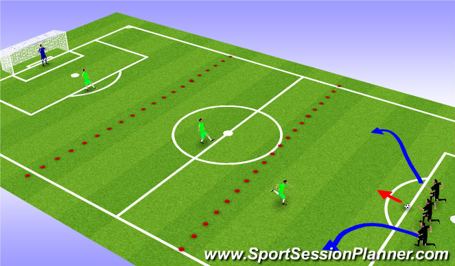 Football/Soccer Session Plan Drill (Colour): support play