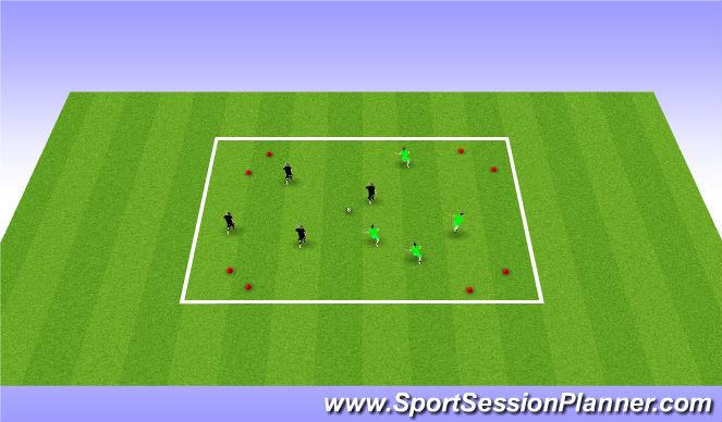 Football/Soccer Session Plan Drill (Colour): 4v4 game (gates)