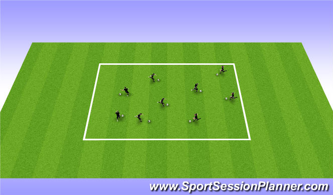 Football/Soccer Session Plan Drill (Colour): Skills in tight spaces
