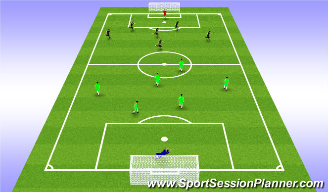 Football/Soccer Session Plan Drill (Colour): Retain Posession Match