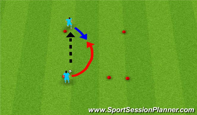 Football/Soccer Session Plan Drill (Colour): One on one in a square