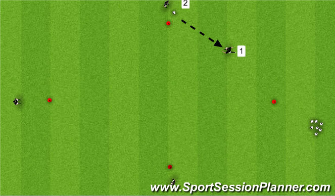 Football/Soccer Session Plan Drill (Colour): Step 3