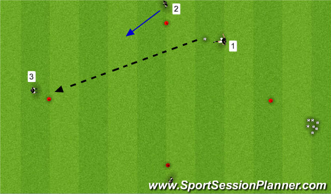 Football/Soccer Session Plan Drill (Colour): Step 4