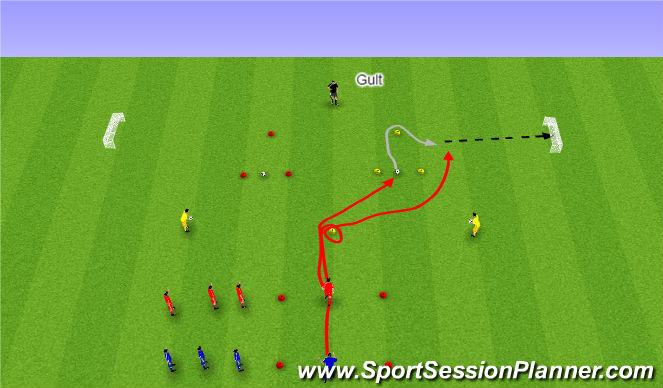 Football/Soccer Session Plan Drill (Colour): Hraðaþjálfun