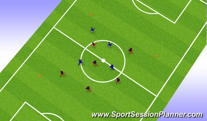 Football/Soccer Session Plan Drill (Colour): Entrada en Calor