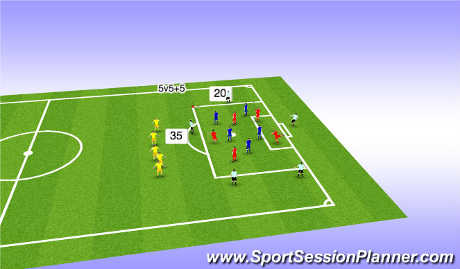Football/Soccer Session Plan Drill (Colour): The Team's Horseshoe