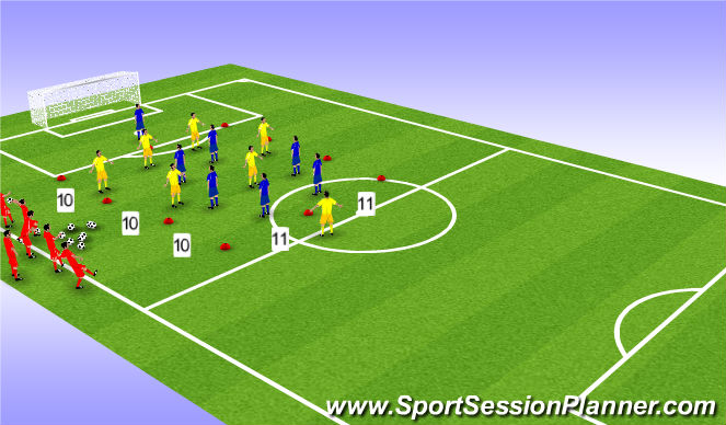Football/Soccer Session Plan Drill (Colour): Find The Number 10