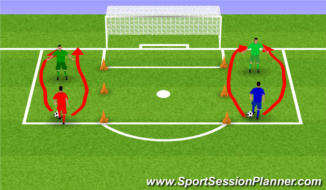 Football/Soccer Session Plan Drill (Colour): Blocked session (2)