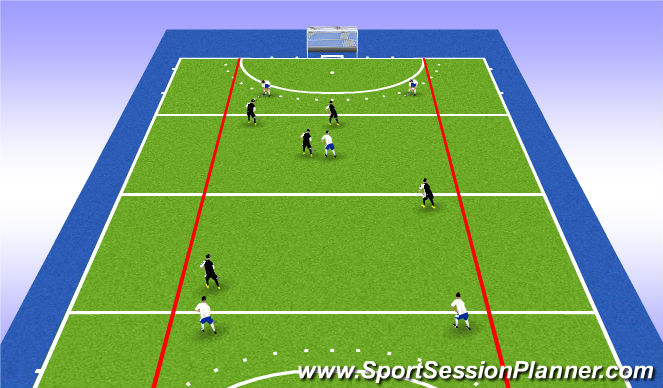 Hockey Session Plan Drill (Colour): Blok 1