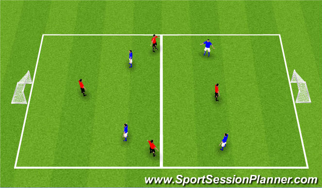 Football/Soccer Session Plan Drill (Colour): 1 Nil Game
