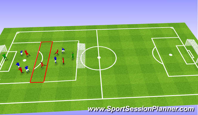 Football/Soccer Session Plan Drill (Colour): Buffer zone long shot