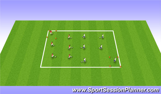 Football/Soccer Session Plan Drill (Colour): DR DR