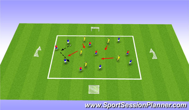 Football/Soccer Session Plan Drill (Colour): Arrival Activity and FIFA 11+