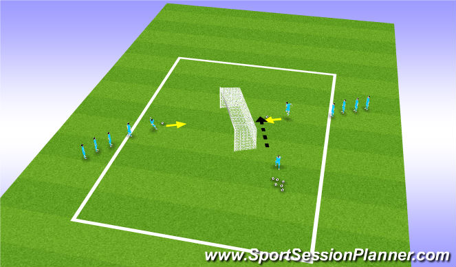 Football/Soccer Session Plan Drill (Colour): Headers and Volleys