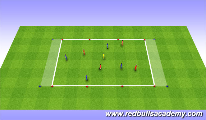Football/Soccer Session Plan Drill (Colour): Dribbling - SSG