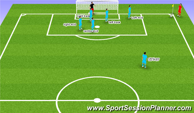 Football/Soccer Session Plan Drill (Colour): Mixed marking