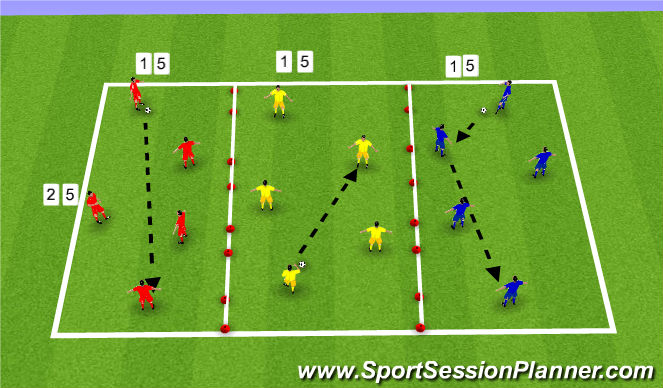 Football/Soccer Session Plan Drill (Colour): Move the ball