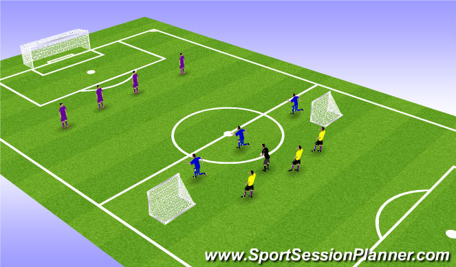 Football/Soccer Session Plan Drill (Colour): pressure free