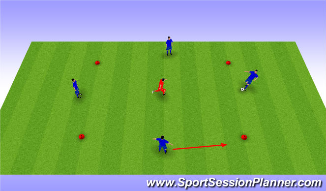 Football/Soccer Session Plan Drill (Colour): 4 v 1 Rondo