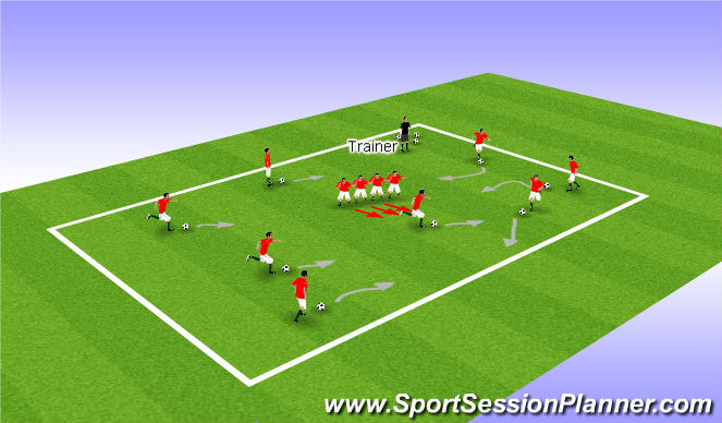Football/Soccer Session Plan Drill (Colour): Chain game