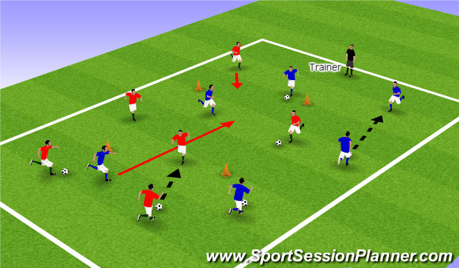 Football/Soccer Session Plan Drill (Colour): Color game