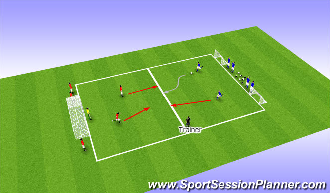 Football/Soccer Session Plan Drill (Colour): Football game 1