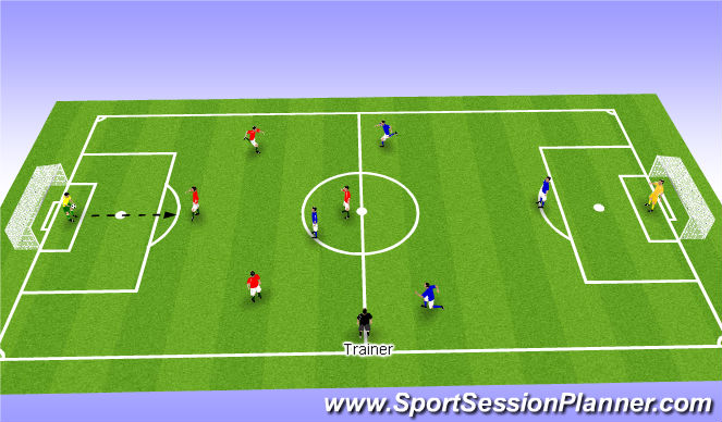Football/Soccer Session Plan Drill (Colour): Football game 2