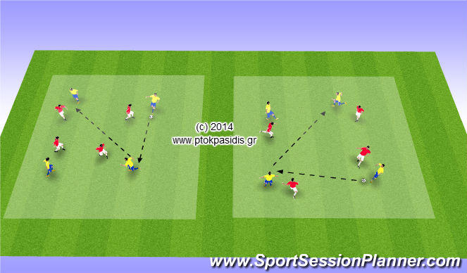 Football/Soccer Session Plan Drill (Colour): ΤΑΚΤΙΚΗ (ΑΕΡΟΒΙΑ)